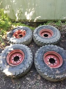 4 Used 36x12 50 16 5 Lt Tires On Wheels For Bobcat