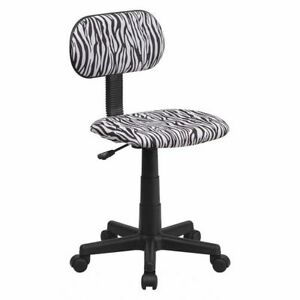 Black white Zebra Task Chair Flash Furniture Bt z bk gg