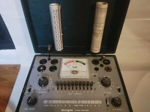 Vintage Knight Tube Tester With 2 Extra Roll Charts
