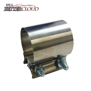 3 Easyseal Stainless Steel Ss T304 Butt Joint Band Exhaust Clamp Sleeve Coupler