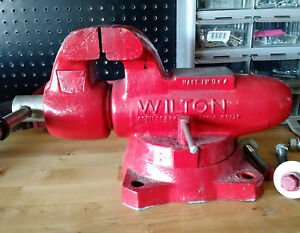 Wilton 4 Swivel Base Red Bullet Machinist Vise No 101157 101158 Made In Usa