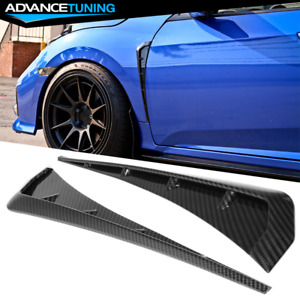 Fits 16 20 Honda Civic 10th Gen Front Fender Vents Carbon Fiber Print