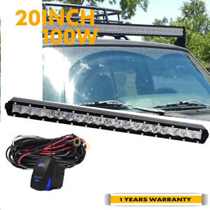 20 Inch Led Light Bar Hidden Bumper Fit 2007 2013 Chevy Silverado 1500 2500 3500