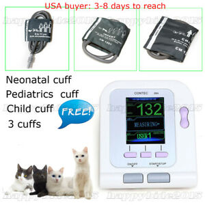 Digital Veterinary Blood Pressure Monitor Nibp 3 Cuff dog cat pets Use software