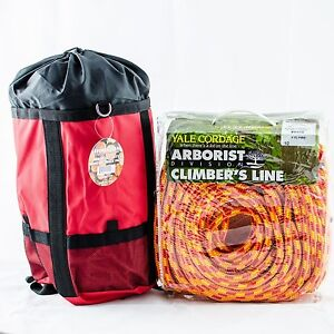 Tree Climbing Rope xtc Fire Yales16 Strand Rated 6200lb Strength 1 2 x150 W bag