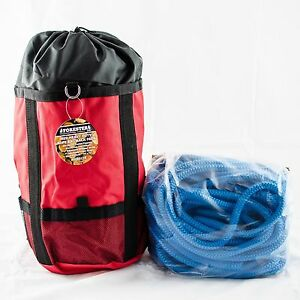 Tree Climbing Rope samson True Blue Rated 7300lb 12 Strand firm 1 2 x120 W bag