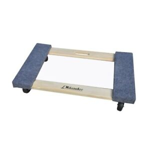 Furniture Dolly 1 000 Lb Capacity 18 In X 30 In Mover Moving Carpeted Ends