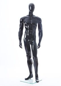 Black Glossy Male Mannequin