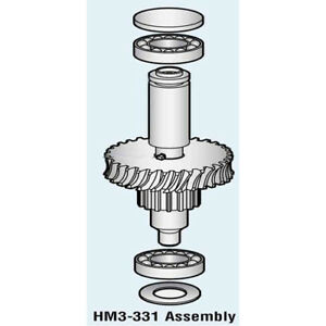 Worm Gear Shaft And Bearing For Hobart Mixer D300 Oem 00 270533 00001