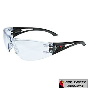 Radians Optima Safety Glasses With Black Frame Clear Anti fog Lens 1 Pair