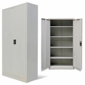 New Steel Metal Filing Cabinets Office Lock Cupboard Document Storage Organizer