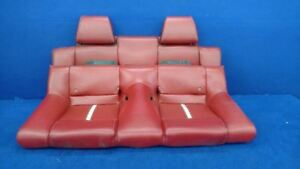 2010 2011 2012 Ford Mustang Gt Red Leather 401a Convertible Rear Seat