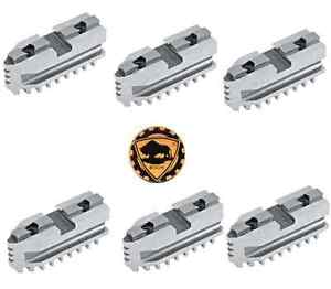 Bison Hard Master Jaws For Scroll Chuck 10 6 jaw 6 Piece Set 7 885 610