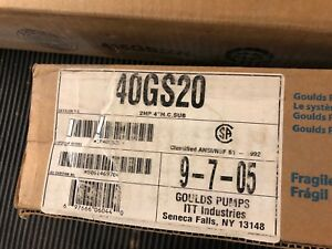Goulds 40gs20 Submersible Well Pump End