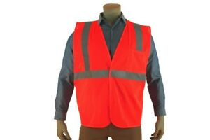 Economy Safety Vest Class 2 Ansi isea Orange Pack 6