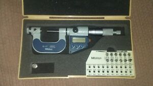 Mitutoyo Inch metric Electronic Thread Micrometer Set