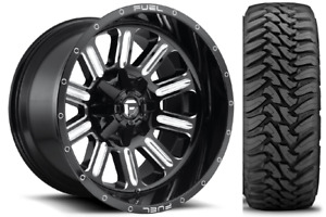20x10 Fuel D620 Hardline 35 Toyo Mt Tires Package 8x180 New Chevy Gmc 2500 3500