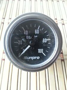 Sunpro Oil Pressure Gauge 0 To 100