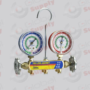 Yellow Jacket 41212 Series 41 Manifold Only 2 1 2 Gauges R 12 22 502 f