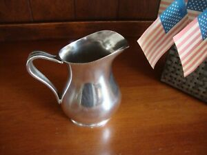 Us Navy Xf Vintage Barton Reed Plated Silver Pitcher