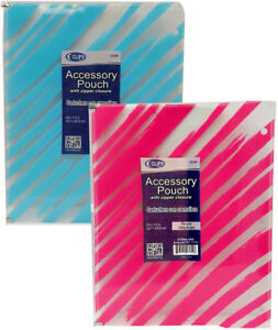 Zippered Pencil Pouch For Binders Case Pack 60 Fits In A 3ring Binder