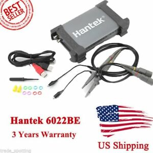 Hantek 6022be Pc based Usb Portable Fft Oscilloscope 2 Channels 20mhz 48msa s Hm