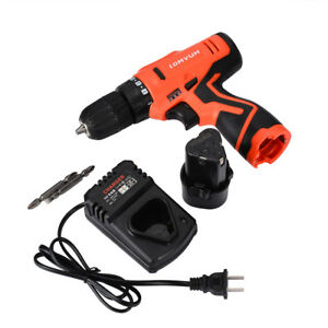 12v Li ion Cordless Rechargeable Electric Hammer Drill Driver Hand Led Light