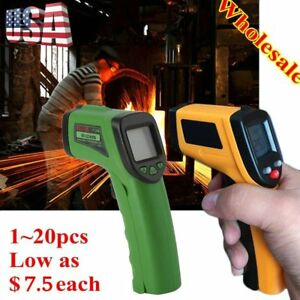 Lot 10 Temperature Gun Non contact Infrared Ir Laser Digital Thermometer Us Ship