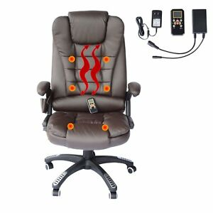 Vibrating Massage Chair Executive Ergonomic Computer Office Desk Brown