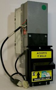 Mars Mei Vn2502u5 Dollar Bill Acceptor Validator With Mdb Harness Cable