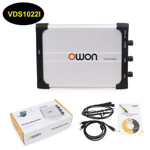 Owon Vds1022i Digital Usb Isolation Pc Oscilloscope 2 1 Ch 25mhz 100ms s Scpi