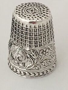 Sterling Silver 925 Miniature Thimble