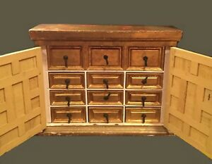 Vintage Italian Apothecary Rustic Lafayette Galleries Of Kentucky 10 Drawers