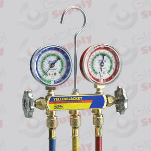 Yellow Jacket 41703 Series 41 Manifold 2 1 2 Gauges 60 Hoses R 410a