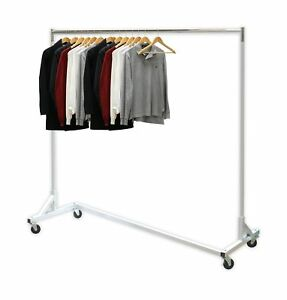 Simplehouseware Industrial Grade Z base Garment Rack 400lb Load With 62 Ext