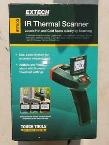 Extech Irt500 Dual Laser Ir Thermometer With Colored Led Indicators