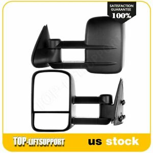 Pair Manual Extend Towing For 1999 2007 Chevy Gmc Silverado Sierra Side Mirrors