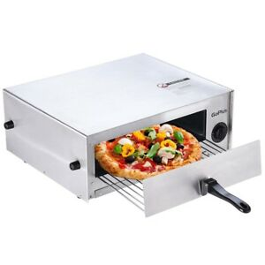 Commercial Electric Pizza Oven Stainless Steel Kitchen Counter Top Snack Pan New