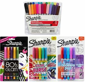 Sharpie Ultra Fine Point Permanent Marker Set Assorted Colors 39 pack Include