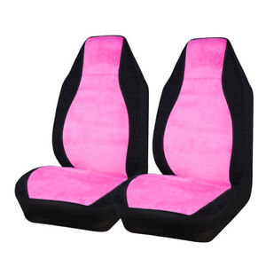 Smoothly Pink Color Cloth Two Front Seat Car Seat Cover Car Accessories For Girl