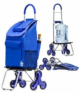 Dbest Products Stair Climber Bigger Trolley Dolly Shopping Cart Blue