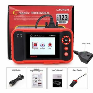 Launch Obd2 Diagnostic Tool Scanner Engine Transmission Reader Abs Srs Crp123