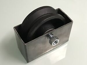 4 V groove Wheel And Box Weldable Gate Hardware Greaseable