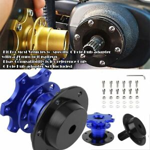 Steering Wheel Detachable Quick Release Car Adapter Hub Adapter Snap Off Blue Sq