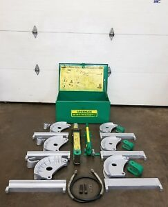 Greenlee 882 Flip Top Hydraulic Conduit Pipe Bender 1 1 4 2 Rigid Emt Imc
