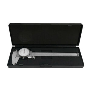 6 150mm Dual Reading Dial Caliper Shockproof Scale Metric Sae Standard Inch