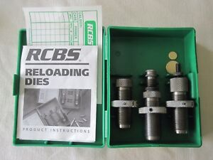 3 Piece RCBS Reloading Die Set 357 MAG SWC Cartridge Org Hard Case 18206 Group B