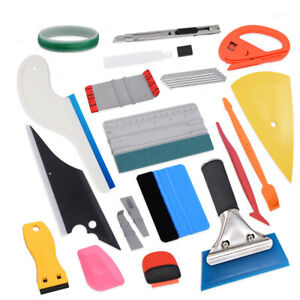 Auto Body Decals Wrapping Tools Vinyl Rubber Turbo Squeegee Window Cleaning Kit