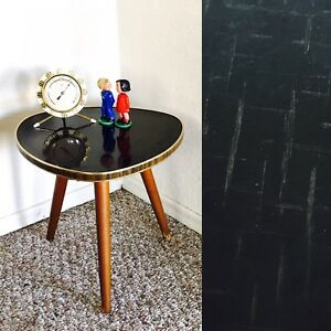 Tripod Mid Century Plant Stand Table Display Side End Table Formica Vintage Gold
