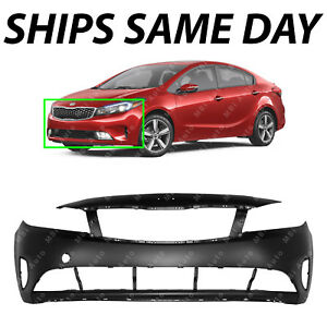 New Primered Front Bumper Cover Replacement For 2017 2018 Kia Forte Sedan 4 Door